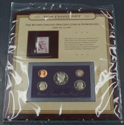 1989 Proof Set NO COA and 3c Lincoln Stamp 150th Anniversary of his Birth Unused