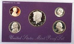 1989 US Mint Clad Gem Proof Set 5 Coins Without Original Mint Box or COA