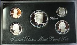1992-S U.S. Mint Complete SILVER Premier Proof Set Gem Coins with Box and COA