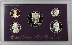 1993 US Mint Clad Proof Set 5 Gem Coins as Issued