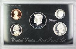 1995 U.S. Mint 5 Coin Silver Proof Set NO BOX NO COA