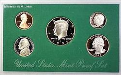 1995 US Mint Proof Set 5 Gem Coins w/ Box & COA