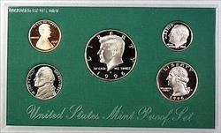 1996 US Mint Proof Set 5 Gem Coins w/ Box & COA
