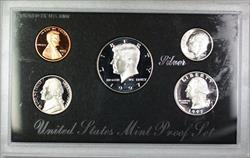1997 U.S. Mint 5 Coin Silver Proof Set NO BOX NO COA