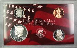 1999 U.S. Mint 4 Coin Silver Proof Set NO BOX NO COA