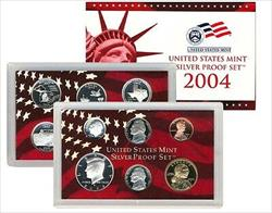 2004 US Mint Silver Proof Set 11 Gem Coins w/ Box & COA
