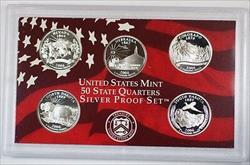 2006 State Quarters SILVER Proof Set 5 US Mint Coins