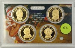 2008 U.S. Mint 4 Coin Proof Presidential Dollar Set NO BOX NO COA