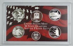2008 US Mint SILVER Proof State Quarters Set 5 Gem Coins w/ Box & COA