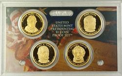 2009 U.S. Mint 4 Coin Proof Presidential Dollar Set NO BOX NO COA