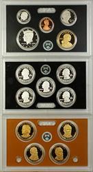 2011 US Mint 14 Coin Silver Proof Set w/ Quarters & Dollars NO BOX NO COA