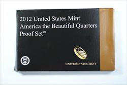 2012 U.S. Mint 5 Coin Proof National Parks Quartesr Set In OGP With Box & COA
