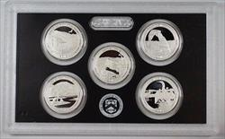 2014 US Mint Silver America the Beautiful Proof Quarters Set 5 Coins No Box