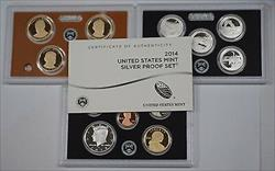 2014 US Mint Silver Proof Set Gem Coins W/ Box and COA