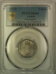 1712 Austria Coronation Token PCGS  Very Choice BU
