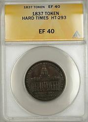 1837 Hard Times Token Merchants Exchange of Wall St. New York HT-293 ANACS