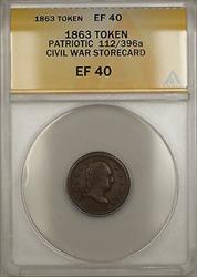 1863 Patriotic Civil War Wilson's Storecard Token 112/396a ANACS