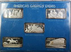 America's Greatest Events Hamilton .999 Fine 1oz Group III Silver Ingot Set