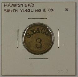 Early 20th Cen. Trade Token Smith Yingling & CO Carroll County Hampstead MD S-63