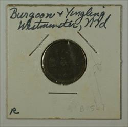 Early 20th Century 1 BKT Trade Token Burgoon & Yingling Westminster MD S-B-15-1