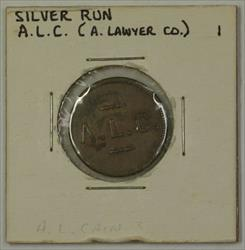 Early 20th Century 1c Trade Token A. Lawyer CO. Carroll County Silver Run MD