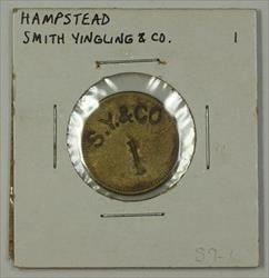 Early 20th Century 1c Trade Token Smith Yingling & CO. Hampstead MD S-S7-1