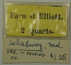 Early 20th Century 2 Quarts Pickers Check Earnest Elliot Salisbury, MD Maryland