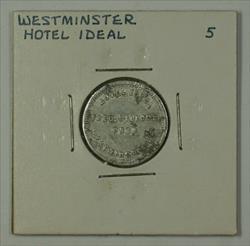 Early 20th Century 5c Trade Token Hotel Ideal Carroll Co. Westminster MD S-I-5