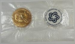 John Adams American Revolution Bicentennial Medal, In Plastic Sleeve, Envelope