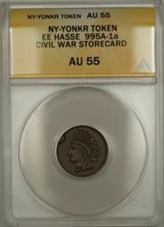 NY-Yonkers EE Hasse Civil War Storecard Token 995A-1a ANACS