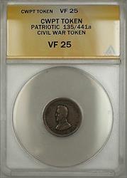 Patriotic Civil War Token 135/441a ANACS