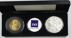 Scandinavian Airlines Inaugural Flight Washington-Copenhagen Set Silver Eagle