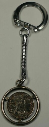 Silver Bar Mitzvah Key Chain