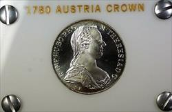 1780 Austria Maria Theresa Thaler  Proof Crown Re Strike  in Case