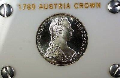 1780 Austria Maria Theresa Thaler  Proof Crown Re Strike  in Case