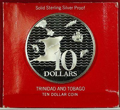 1973 Trinidad & Tobago Ten  Sterling  Proof  No Case or COA