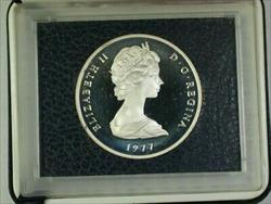 1977 Turks and Caicos Islands 25 Crowns  Proof  W/ Case+Box & COA