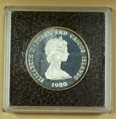 1980 Turks and Caicos Islands 10 Crowns  Proof  Toned In Case W/ COA