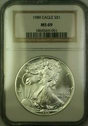 1989 American  Eagle $1  ASE NGC JAB