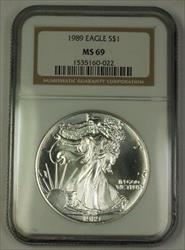 1989 American  Eagle ASE  $1  NGC Nearly Perfect GEM