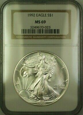 1992 American  Eagle $1  ASE NGC JAB