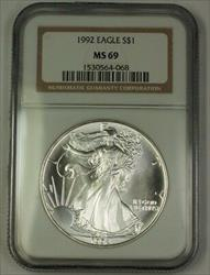 1992 American  Eagle ASE  $1  NGC Nearly Perfect GEM
