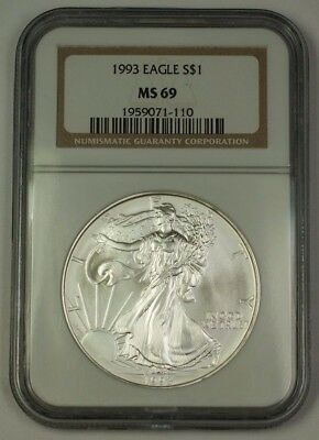 1993 American  Eagle ASE  $1  NGC Nearly Perfect GEM