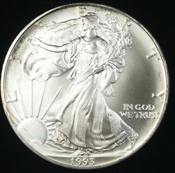 1993 American  Eagle In Deluxe Case ASE BU  Condition & Grade Is AT (BU)!