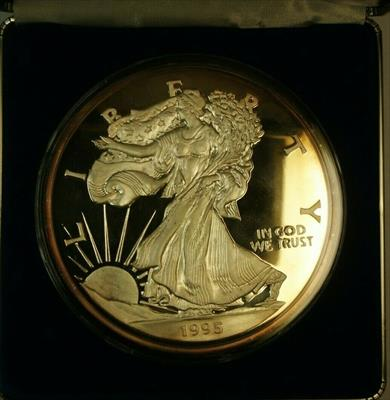 1995 Washington Mint 1/2 LB 8oz Pure  Proof  Eagle  Round