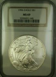 1996 American  Eagle $1  ASE NGC JAB