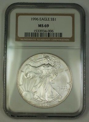 1996 American  Eagle ASE  $1  NGC Nearly Perfect GEM