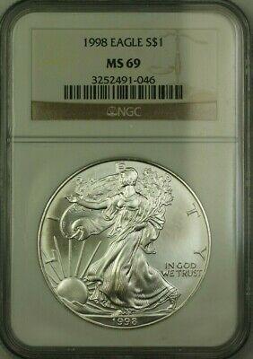 1998 American  Eagle $1  ASE NGC JAB