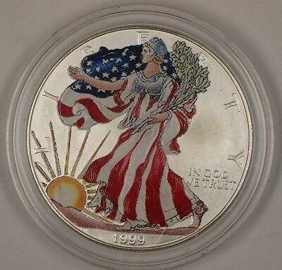 1999 American  Eagle (ASE) Brilliant Uncirculated Colorized