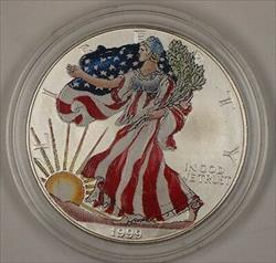 1999 American  Eagle (ASE) Brilliant Uncirculated Heavily Colorized